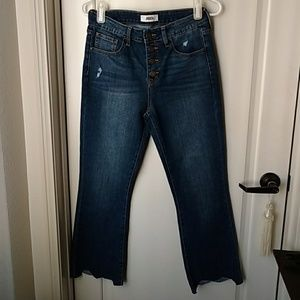 JBD button fly  cropped jeans size 27